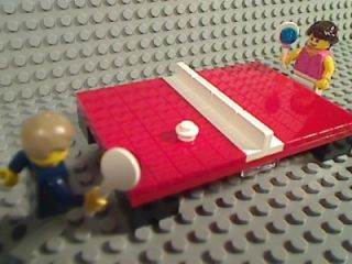 lego red ping pong table tennis paddle ball net sport olympics game