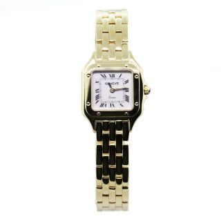 Yellow Gold Panther Style Geneve Ladies Wrist Watch