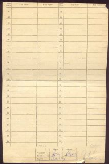 Chess Score Sheet 1972 Tal Savon Signed 40th Championship of USSR Baku