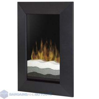 Dimplex Recessed/Wall Mount Black Electric Fireplace In Black