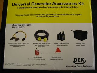 Generator Accessory Kit  25 L14 30 cord, (1)240v to (6) 120v adapter