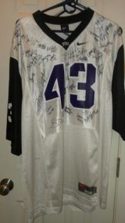2012 TCU Texas Horned Frogs Team Signed Football Jersey Certificate