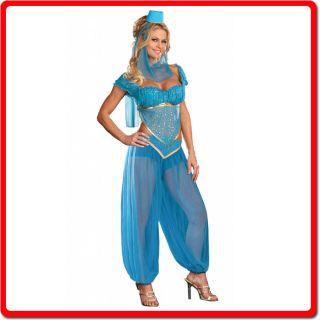 New Genie Belly Dancer Arabian Turkish Ladies Fancy Dress Party