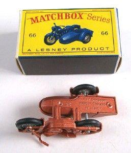 Matchbox Lesney 66 Harley Davidson Motorcycle 1962 MIB