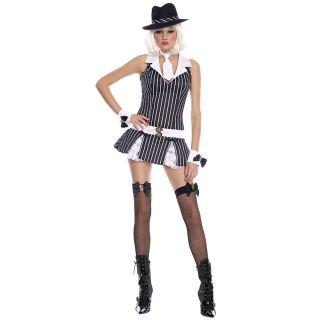 Mafia Gangster Womens Fancy Dress Halloween Costume XL Size