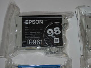 GENUINE EPSON 98 EXTRA HIGH CAPACITY INK CARTRIDGES NEW AND AIR TIGHT