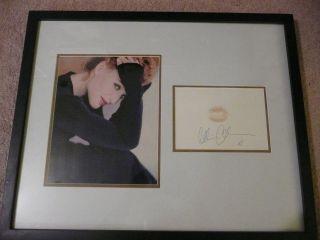 Gillian Anderson Autograph Lip Print