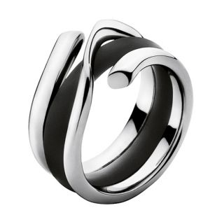 Georg Jensen White Gold Ring 1314 Magic w Rubber Band