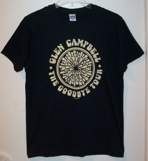 GLEN CAMPBELL THE GOODBYE TOUR CONCERT T SHIRT COUNTRY MUSIC BLACK