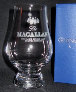 MACALLAN GLENCAIRN SCOTCH WHISKY TASTING GLASS WITH BLUE LEATHERETTE