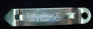 Ballantine Ale & Beer Brewery Bottle Opener Baltimore Classic Steel
