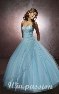 Win Passion Noblest Strapless Wedding Dress Bridesmaid Prom Gown Dress