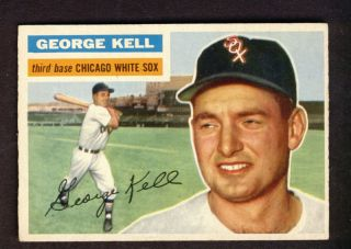 George Kell White Sox 1956 Topps Card 195