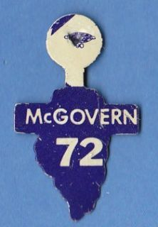 1972 GEORGE McGOVERN PRESIDENT CAMPAIGN Lapel Pin   ILLINOIS ELECTION