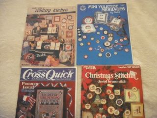 lot of 4 counted cross stitch pattern booklets Country Stuff Christmas