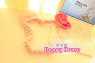 New Hello Kitty Pink Bow Plush Computer LCD Monitor Decoration 15 22