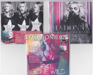 GIVE ME ALL YOUR GIRL GONE WILD TURN UP THE RADIO HONG KONG PROMO 3 CD