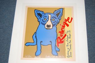 FTI George Rodrigue Blue Dog Gallery Edition II RARE Print 1990