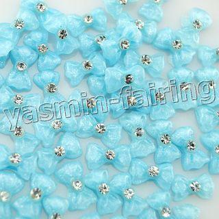 Nail Art Bowknot CZ Rhinestone Decoration Acrylic Glitters 612