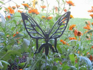 Butterfly Garden Yard Flower Bed Art Metal Stake Insect