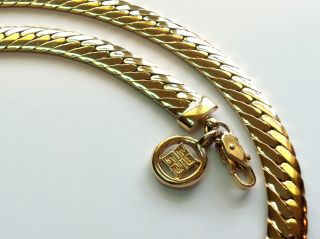 Givenchy 70s Heavy Gold Plated Wide Chain Necklace Gorgeous Estate