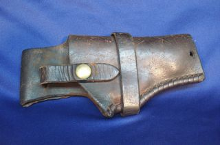 EARLY VINTAGE GEORGE LAWRENCE CO. LEATHER PISTOL HOLSTER 25 L 38 MP