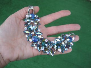 Awesome Juliana Peacock Blue Aurora Borealis Bracelet