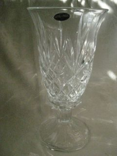St George Crystal Hurricane Candle Holder Fine Lead Crystal NIB USA 12