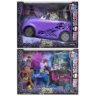 Monster High Scaris City of Frights Convertible & Cafe Cart.. New in