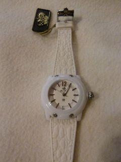 Glam Rock Womens GR23006 Miami Beach White Dial White Silicone Watch