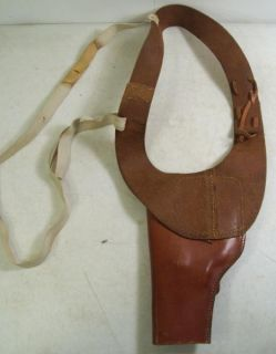 George LAWRENCE Vintage Brown Leather HS S 5 Shoulder Gun Holster