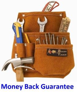 Best Tool Bag 6 Pocket Suede Leather Apron Carpenter Tough Nail Belt