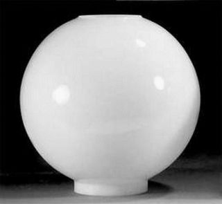 The Wind 8 in Milk Glass Ball Oil Lamp Shade Kerosene Table