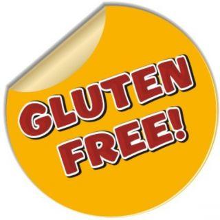 Gluten Free Sticker Concession Decal 8 Food Menu