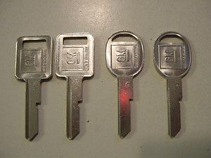 GM Door Trunk Key Blank E H Chevy Cadillac Buick Olds