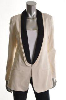 Famous Catalog New Ivory Long Sleeve Lined Tuxedo Long Jacket 6 BHFO