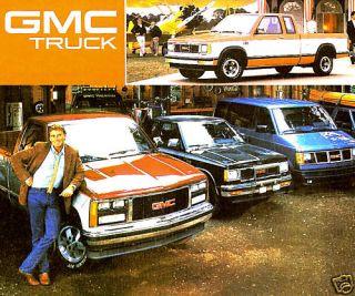 1988 GMC TRUCK BROCHURE SIERRA S15 PICKUP JIMMY SUBURBAN SAFARI RALLY