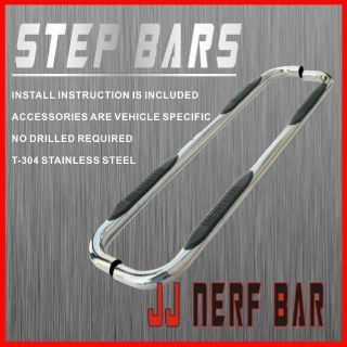 2013 GMC Sierra 2500HD Crew Cab Nerf Bars Side Steps Rails Running