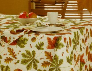 Glendale Fall Leaves Green Brown Gold Rust Polyester Print Fabric