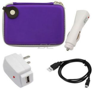 For Garmin Magellan Roadmate TomTom 5 GPS Purple Pouch Case AC Car