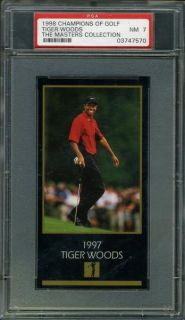 1998 GSV Champions of Golf Masters Collection Tiger Woods PSA 7