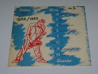 Gerry Mulligan LP 1950 Fantasy 3 6 Jazz 10 Chet Baker Ten inch Jazz