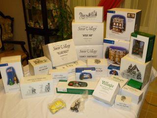Dept 56 Original Snow Village Town Center Christmas Scene Lot Retired