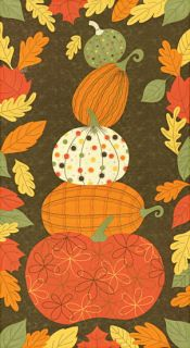 Pumpkins Gone Wild ~ Walnut Panel By Sandy Gervais