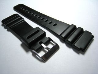 Rubber Plastic Black Watch Strap Fast Deliver from UK