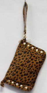 Hammitt Getty Leopard Print Clutch Handbag Brown New