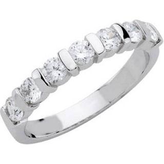 Diamond VS2 Anniversary Wedding Band Ring 14k White Gold Sz7 5