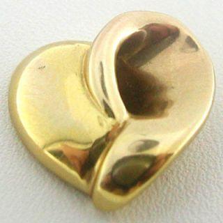 Estate 14k Italy Gold Bracelet Heart Slider Pendant