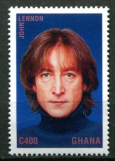 Ghana 1995 John Lennon Beatles Memorial Portrait Stamp Mint Never