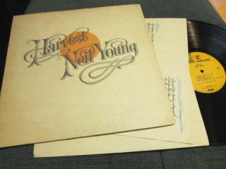 Neil Young LP Harvest 72 Orig MS2032 w Lyric Poster